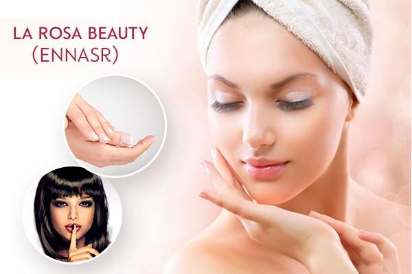 Soin de visage Spécifique + Epilation sourcils, lèvre supérieure, menton, bras complètes, aisselles + Mini soin des mains + Pose vernis + Brushing