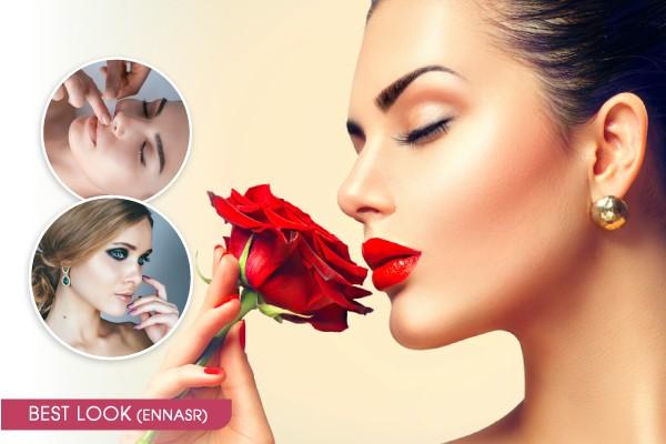 Maquillage soirée + Brushing artistique + Epilation sourcils, lèvre supérieure