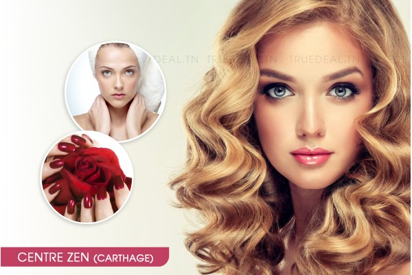 Coloration + Coupe + Brushing + Epilation visage, sourcils + Soin des mains + Pose vernis permanent