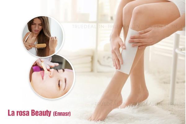 Epilation jambes complètes, bras complètes, aisselles, visage, sourcils, maillot intégrale + Brushing