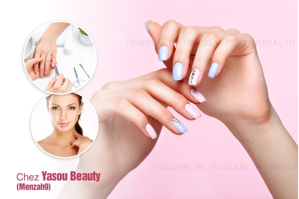 Capsule + Gel + Vernis permanent + Epilation visage, sourcils + Coupe + Brushing