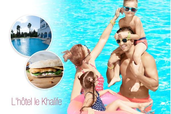 Un accès piscine par personne + Sandwich escalope