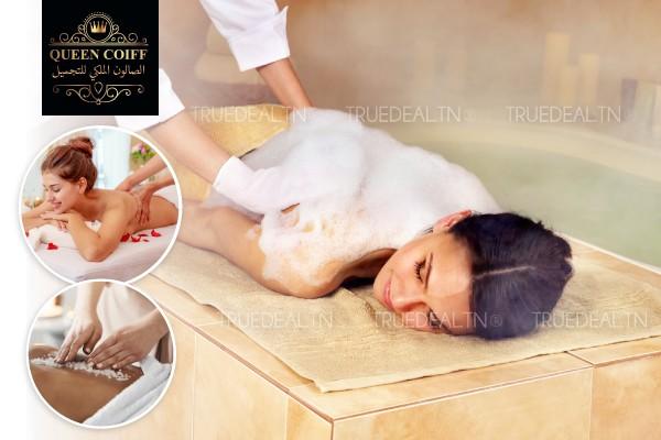 Hammam+Gommage+Enveloppement Savon marocain ou café+Massage Relaxant Humide