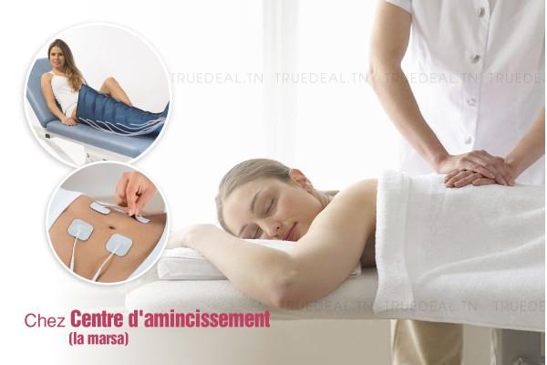 12 séances de: massage amincissant manuel+ couverture chauffante+électro + Drainage lymphatique