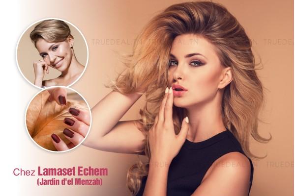 Coloration+Coupe+Brushing+Epilation visage+Epilation sourcils+Pose vernis permanent
