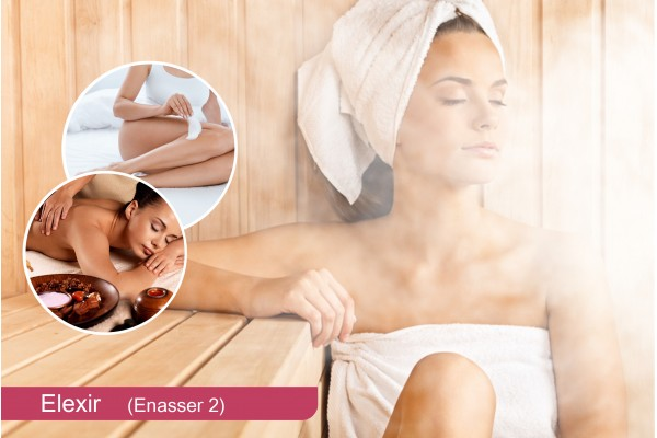 Hammam+Gommage+Enveloppement savon marocain+Massage relaxant humide+Epilation jambes+ bras+ aisselles+ maillot intégrale