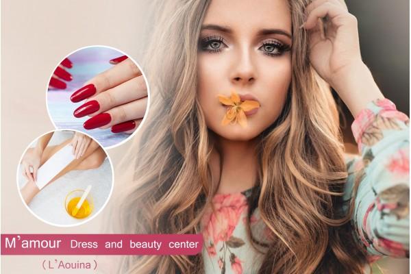 Coloration+Méches+Brushing+Epilation visage+Sourcils+Jambes+Bras +Aisselles+Soin des mains+Pose vernis permanent