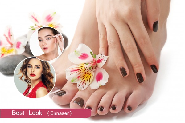 2 poses vernis permanent + Epilation visage + Epilation sourcils + Brushing