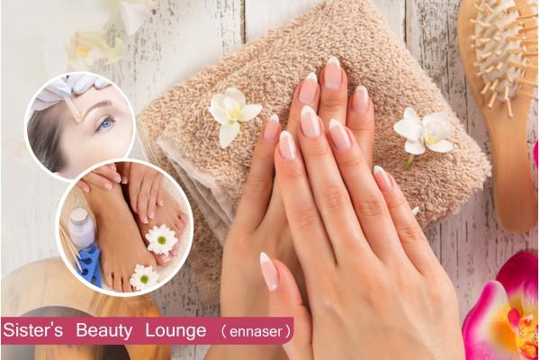 Soin des mains +capsule +gel+ 2 poses vernis permanent+ Epilation visage+ Epilation sourcils+Brushing