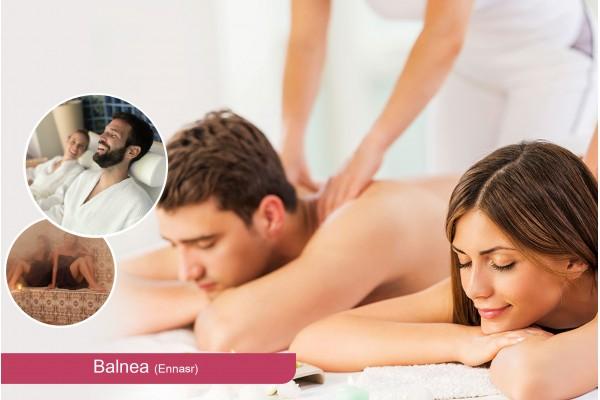 Hammam+Gommage+Enveloppement aux algues+Massage Relaxant (30 min)+Piscine+Jacuzzi