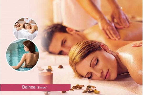 Hammam+Gommage+Enveloppement aux algues+Massage Relaxant (50 min)+Piscine+Jacuzzi