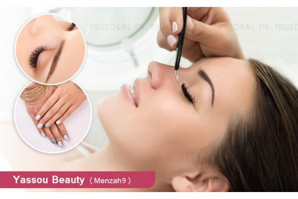 Cil à cil+Epilation visage+Sourcils+Brushing+Soin des mains+Pose vernis permanent