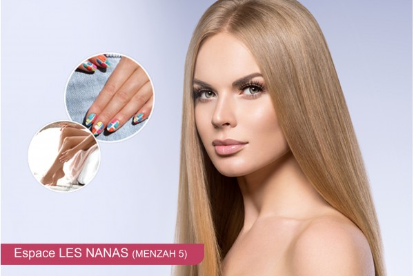 Coloration+Mèches+Coupe+Brushing+Epilation visage+Sourcils+Jambes+Bras+Aisselles+Pose vernis permanent