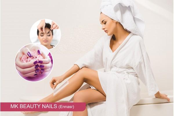 Epilation jambes, bras , aisselles, visage, sourcils +soin des mains ou pieds+Pose vernis permanent