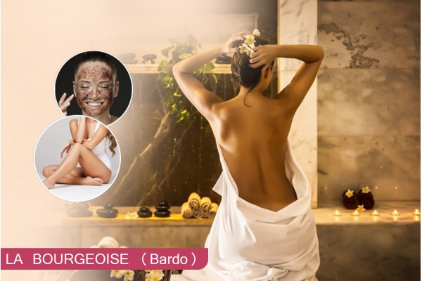 Hammam+Gommage+Enveloppement argile+Massage Relaxant humide+Epilation jambes +Bras +Aisselles+Maillot intégrale+Brushing