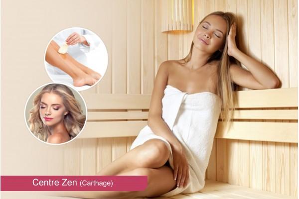 Hammam+Gommage+Enveloppement+Massage Humide+Epilation Jambes+Bras+aisselles+maillot intégral+Brushing