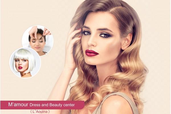 Coloration+Mèches+Coupe+Brushing+Epilation visage+sourcils