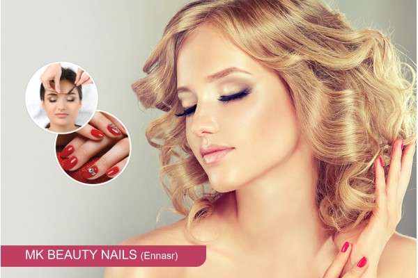 Coloration + Méches + Coupe + Brushing + Epilation visage, sourcils+Pose vernis permanent