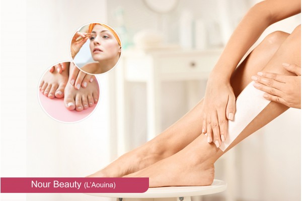 Epilation jambes + Bras + Aisselles + Visage +Sourcils+2 poses vernis