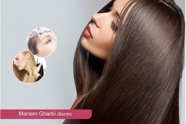 Protéine (toute longueur de cheveux )+ Coupe + Brsuhing + Epilation visage, sourcils