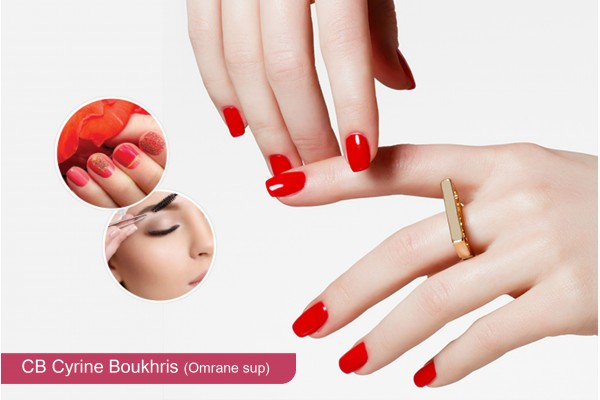 Faux ongles (Capsule) + Gel + Pose vernis permanent+Design+Epilation sourcils+Brushing
