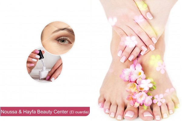 soin des mains+soin des pieds+2 poses vernis permanent+Epilation visage,sourcils+Brushing