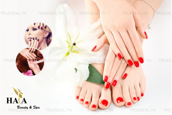soin des mains+soin des pieds+2 poses vernis permanent+Brushing