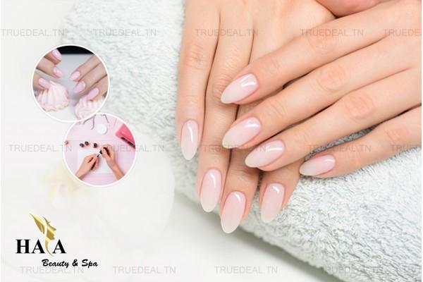 Faux ongles (Capsule) + Gel + Pose vernis permanent+Design