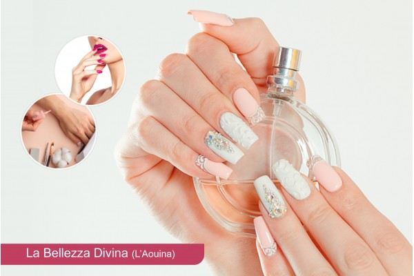 Faux ongles + Gel +Soin des mains +Pose vernis permanent