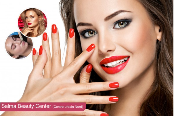 Coupe + Brushing + Epilation visage + Epilation sourcils+ Soin des mains + ¨Pose vernis permanent