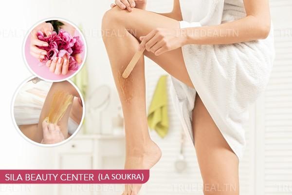 Epilation jambes complètes, bras complètes, aisselles, visage,sourcils+Brushing+Pose vernis permanent