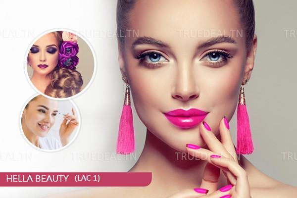 Maquillage Soirée + Brushing Artistique + Epilation Sourcils, Lèvre Supérieure + Soin Des Mains +Pose Vernis Permanent