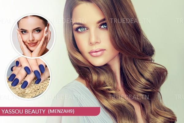 Coloration ou Mèches+ Coupe+Brushing+ Epilation visage +Epilation sourcils +Pose vernis permanent