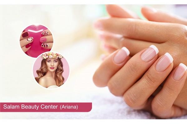 Faux ongles (Capsule) + Gel + Pose vernis permanent+Brushing