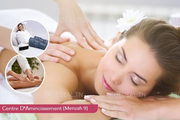 Massage Relaxant (50 min) + Pressothérapie (10 min )