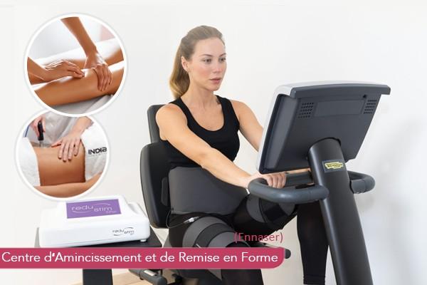 12 Séances : Sport+Redustim+Indiba Radiofréquence+Manuelle+Vibromassseur+Electrothérapie+6 Séances Sauna
