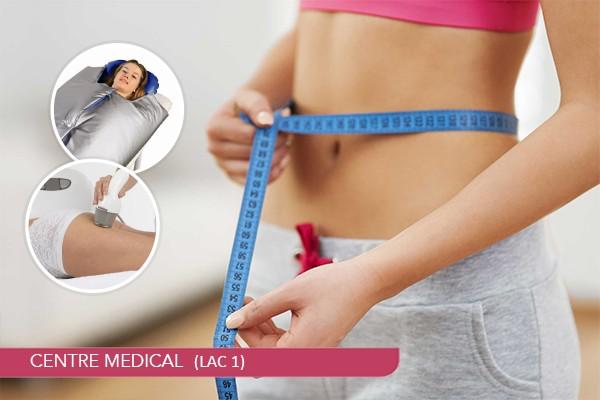 10 Séances Lipocavitation+6 Séances Biostimology+4 Séances Thermosudation+Coaching diététique+Suivi nutritionnel
