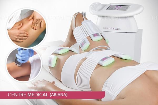 10 Séances: Massage manuel+Vibromasseur+Electrostimulation+Ultrasons+Radiofréquence+Drainage Lymphatique+Renforcemen musculaire