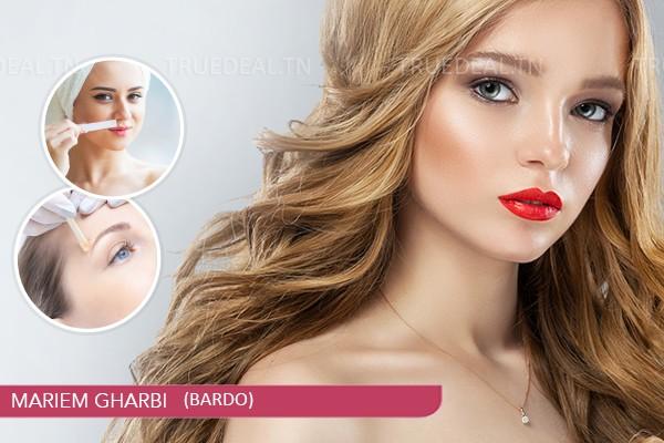 Coloration+Mèches+Coupe+Brushing+Epilation visage+Epilation sourcils